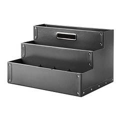 Подставка д/канцелярских принадлежн, темно-серый, 35x21 см IKEA FJÄLLA 503.744.45