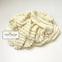 Лоскуток. Minky Stripes плюш кремовый цвета № с-13  70*160 см.