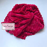 Minky Stripes плюш вишневый цвета № с-15
