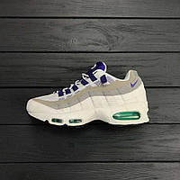 Кроссовки Nike Air Max 95 Premium OG - White/Court Purple. Живое фото. Топ качество! (аир макс)