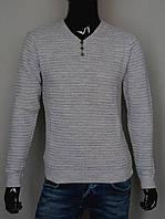 Мужской весенний свитер,светло серый, Турция