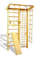 Комбинированная шведская стенка Пиратик СОСНА с вер. набором, турничком и горкой ( шведська стінка )