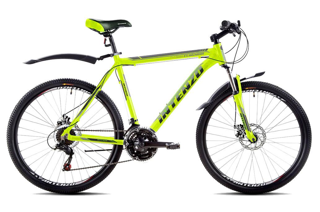 """Горный велосипед INTENZO FLAGMAN 26"""", 21""""  Лимонный"""