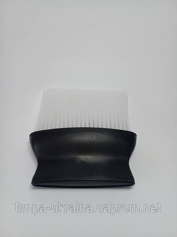 Сметка парикмахерская черная ручка белый ворс, фото 2