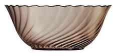 Большой круглый стеклянный салатник коричневый  Luminarc Ocean Eclipse 240 мм  (L5081), фото 2