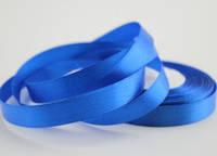 12 мм атласная лента синяя  на метраж