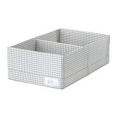 Ящик с отделениями, белый / серый, 20x34x10 см IKEA STUK 203.640.04