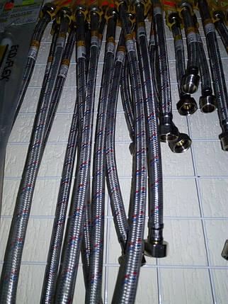Шланг для води 80 см. у силіконі внутрішня/внутрішня різьба, фото 2