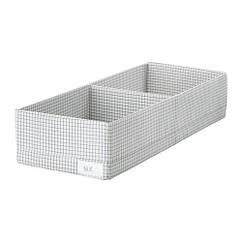 Ящик с отделениями, белый / серый, 20x51x10 см IKEA STUK 403.095.49