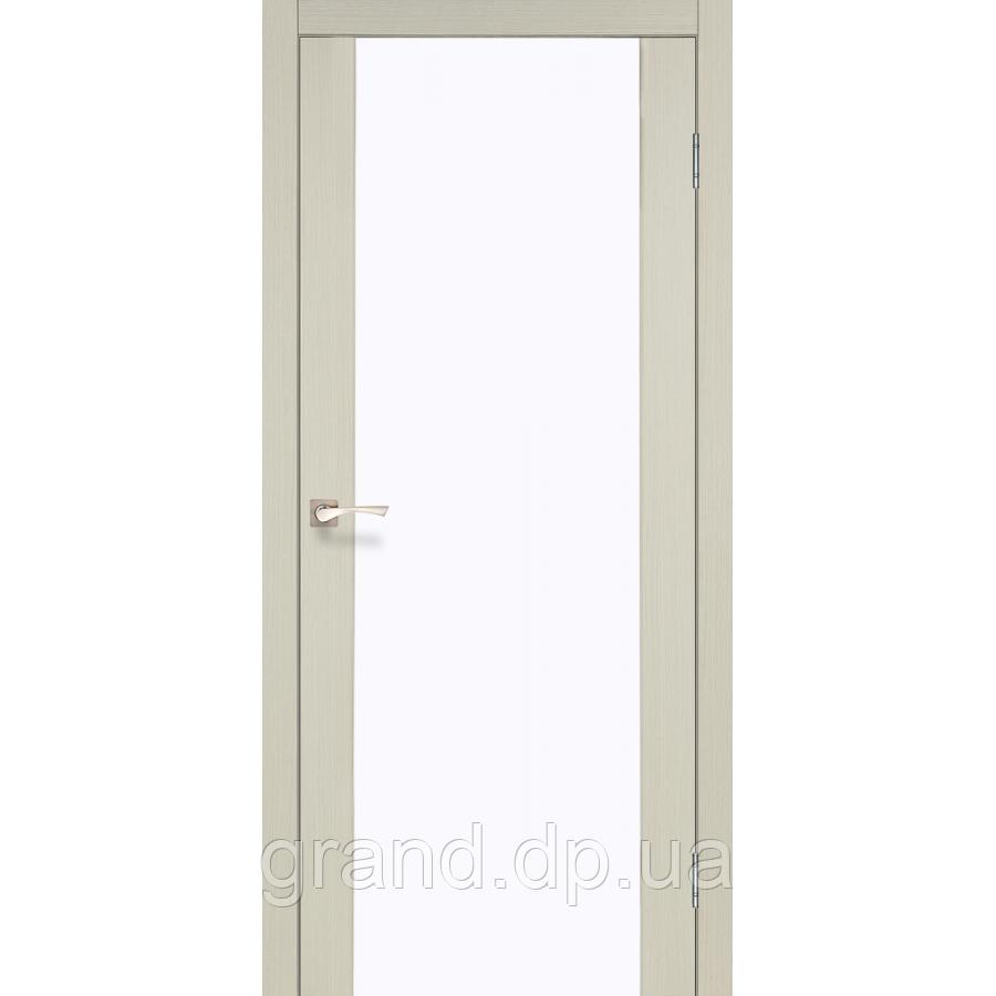 Двери межкомнатные  Корфад SANREMO  Модель: SR - 01 дуб беленый/венге/орех/дуб грей/дуб марсала/эш-вайт/дуб браш c матовым стеклом