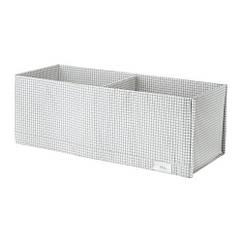 Ящик с отделениями, белый / серый, 20x51x18 см IKEA STUK 203.095.88