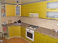 Кухня на заказ МДФ Угловая Лимон
