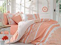 Комплект постельного белья Евро размера HOBBY Poplin Lisa персиковый HB01