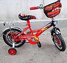 Детский велосипед Mustang Тачки 14 дюймов черно-красный, фото 3