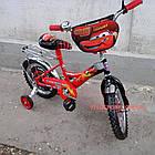 Детский велосипед Mustang Тачки 14 дюймов черно-красный, фото 4