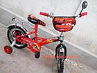 Детский велосипед Mustang Тачки 14 дюймов черно-красный, фото 5