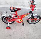 Детский велосипед Mustang Тачки 14 дюймов черно-красный, фото 6