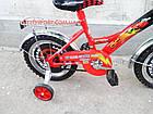 Детский велосипед Mustang Тачки 14 дюймов черно-красный, фото 7