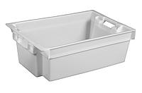 Ящики пластмассовые сплошные 600 x 400 x 200 универсальные Первичный, Белый