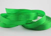 12 мм (23 м) Атласная лента зеленая 19