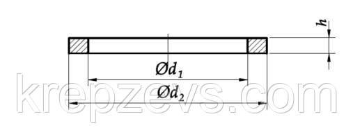 Схема шайбы DIN 7603