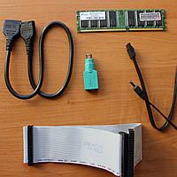 Комплектующие к компьютеру - шлейф, 2 шнура, карта памяти, usb-переходник, usb-удлинитель