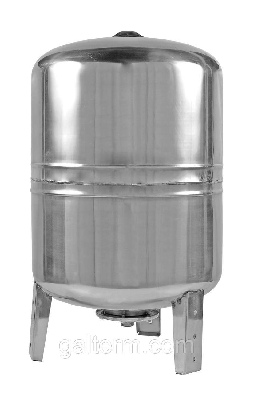 Гідроакумулятор 100л з нержавійки (вертикальний, 10bar)