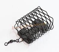 Кормушка фидерная 100g металл с ветлюгом черная