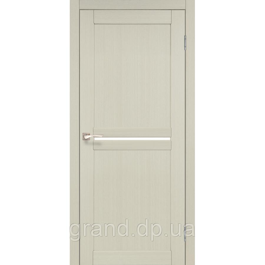 Двери межкомнатные  Корфад MILANO Модель: ML - 02 дуб беленый c матовым стеклом