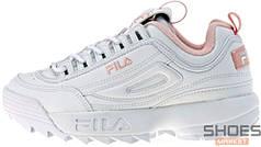 Женские кроссовки Fila Disruptor II White/Pink