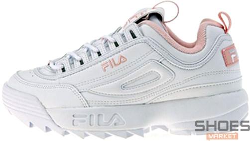 588a66a755d1de Женские кроссовки Fila Disruptor II White/Pink - Интернет-магазин обуви и  одежды в