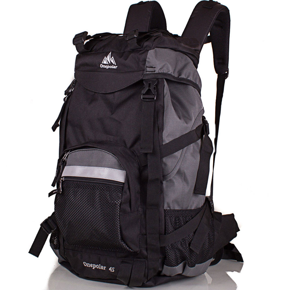 Мужской трекинговый рюкзак ONEPOLAR (ВАНПОЛАР) W301-grey