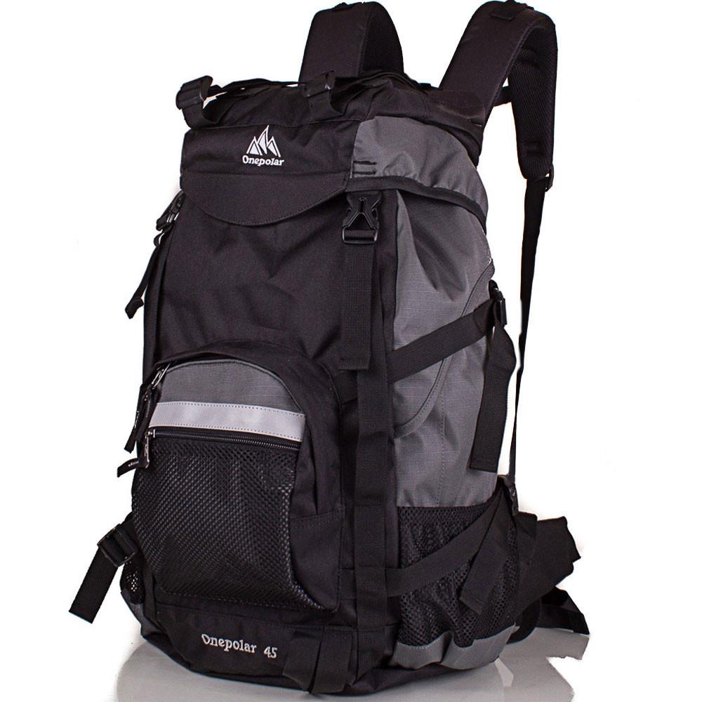 Рюкзак туристический Onepolar Мужской трекинговый рюкзак ONEPOLAR (ВАНПОЛАР) W301-grey