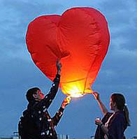 Небесные 3D фонарики - сердца