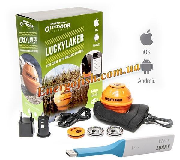 Эхолот беспроводной ET Outdoor Lucky Laker Wi-Fi для Android и iOS
