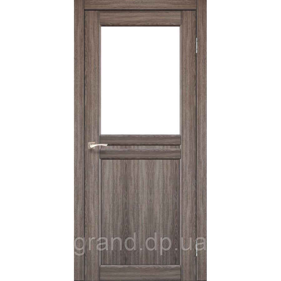 Двери межкомнатные  Корфад MILANO Модель: ML - 03 дуб грей c матовым стеклом