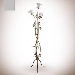 Торшер напольный металлический в стиле флора с цветами  4630