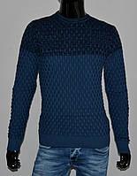 Мужской весенний свитер , Турция, цвет джинс