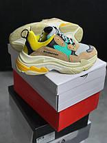 Мужские кроссовки Balenciaga Triple S Beige/Green/Yellow 483513-W06E3-7070, Баленсиага Трипл С, фото 3