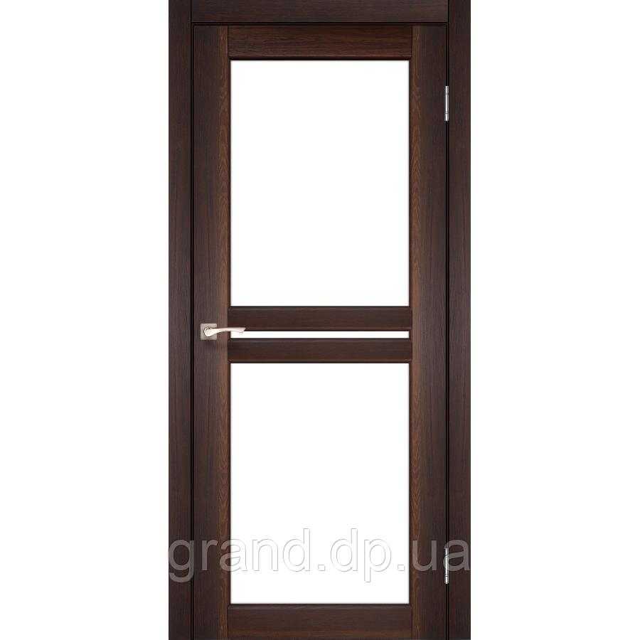 Двери межкомнатные Корфад MILANO Модель: ML - 05 орех c матовым стеклом