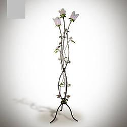 Торшер напольный металлический в стиле флора с цветами  4630-1