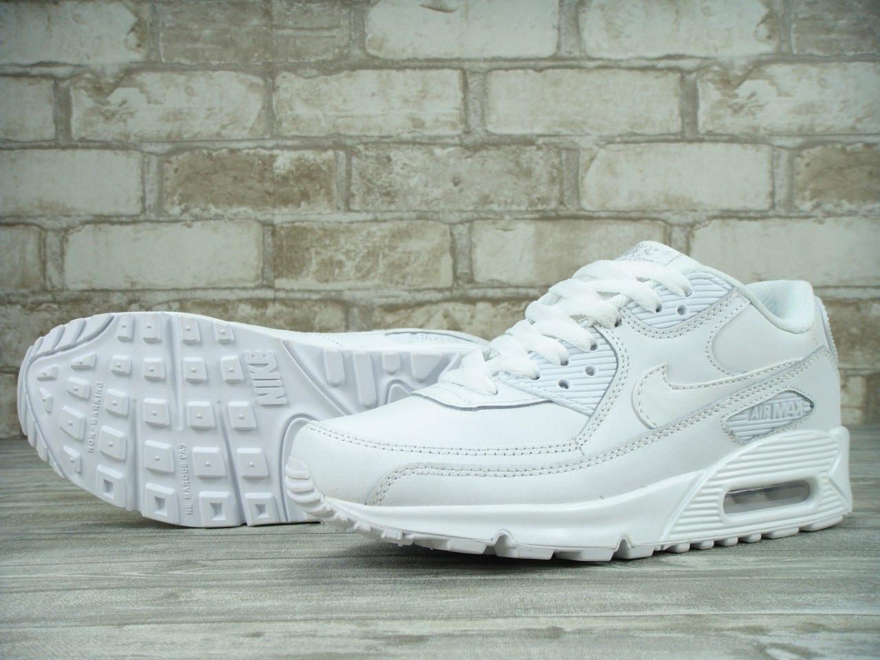 96c56ce2 Nike Air Max 90 all white кроссовки унисекс (Реплика ААА+) - Monkey Vape