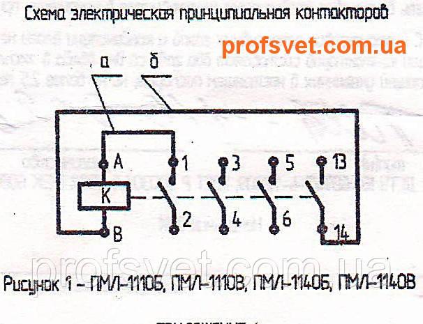 сканирование схема электрическая пускателя пмл-1140 в корпусе
