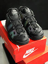 Мужские кроссовки Nike Air More Uptempo GS Reflective Black, Найк Аир Мор Аптемпо, фото 2