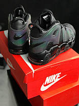 Мужские кроссовки Nike Air More Uptempo GS Reflective Black, Найк Аир Мор Аптемпо, фото 3