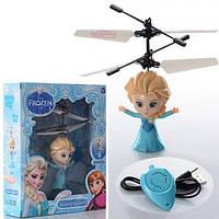 Кукла Летающая Фея Frozen Холодное сердце Эльза USB аккумулятор, свет, пульт управления