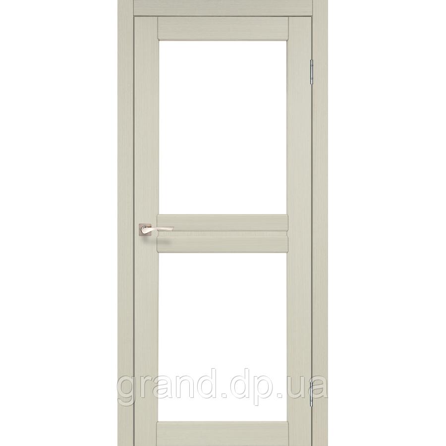 Двери межкомнатные Корфад MILANO Модель: ML - 07 дуб беленый c матовым стеклом