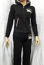 Костюм женский трикотажный спортивный турецкого производства черный