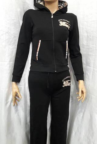 Костюм женский трикотажный спортивный турецкого производства черный, фото 2