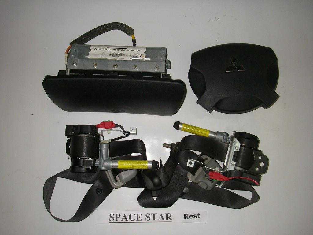 Подушки безопасности комплект чёрный Mitsubishi Space Star 98-05 (Мицубиси Спейс Стар)  MR587815